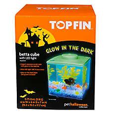 Top Fin® Pet Halloween Glow In the Dark Cube Aquarium