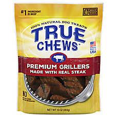 True Chews® Premium Grillers Dog Treat - Natural, Sirloin Steak