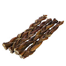 only natural pet free range 12 braided bully stick dog treat dog chewy treats petsmart. Black Bedroom Furniture Sets. Home Design Ideas