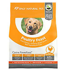 Only Natural Pet Canine PowerFood Dog Food- Limited Ingredient, Natural, Grain Free, Poultry