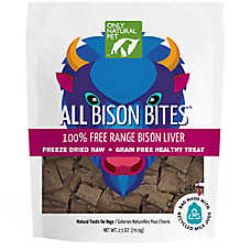 Only Natural Pet Freeze Dried Bison Bites Treat