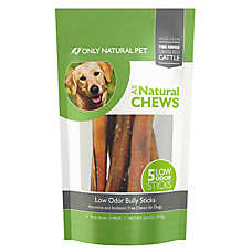 "Only Natural Pet Low Odor 6"" Bully Stick Dog Treat"