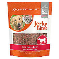 Only Natural Pet Grain Free Beef Jerky Bites Treat