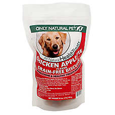 Only Natural Pet Grain Free Chicken Apple Pie Biscuit Dog Treat