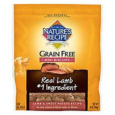 Nature's Recipe® Grain Free Natural Lamb & Sweet Potato Mini Biscuits Dog Treat