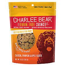 Charlee Bear Bear Crunch Natural, Grain Free, Chicken, Pumpkin & Apple Dog Treat
