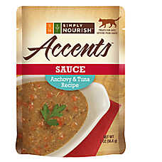 Simply Nourish™ Accents Adult Cat Food - Sauce, Anchovy & Tuna