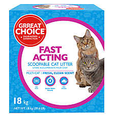 Grreat Choice® Fast Acting Multi Cat Scoopable Cat Litter