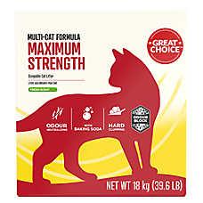 Grreat Choice® Maximun Strength Multi Cat Scoopable Cat Litter