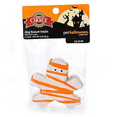Grreat Choice® Pet Halloween Mummy Biscuit Dog Treat (COLOR VARIES)