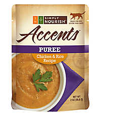 Simply Nourish™ Accents Adult Cat Food - Puree, Chicken & Rice