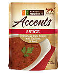 Simply Nourish™ Accents Adult Cat Food - Sauce, Bolognese with Chicken & Beef