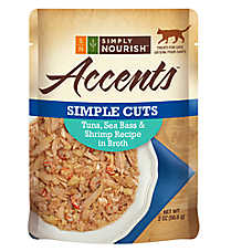Simply Nourish™ Accents Adult Cat Food - Simple Cuts, Tuna, Sea Bass & Shrimp