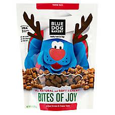 Blue Dog Bakery Bits of Joy Dog Treat - Natural, Chicken & Cheese