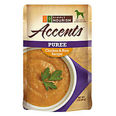 Simply Nourish™ Accents Adult Dog Food - Puree, Chicken & Rice