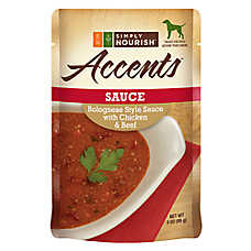 Simply Nourish™ Accents Adult Dog Food - Sauce, Bolognese with Chicken & Beef