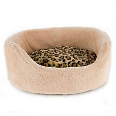 Whisker City® Oval Animal Print Cuddler Cat Bed