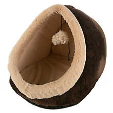 Whisker City® Burn-Out Flower Hut Cat Bed