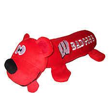 Wisconsin Badgers NCAA Tube Dog Toy
