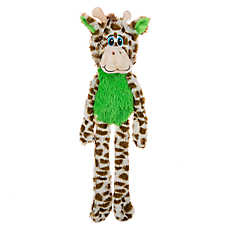 "Toys""R""Us® Pets Flattie Giraffe Dog Toy - Stuffing-Free, Squeaker, Crinkle"