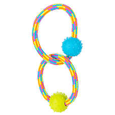 """Toys""""R""""Us® Pets Double Ring Tug Dog Toy (COLOR VARIES)"""