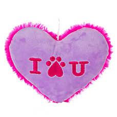 "Grreat Choice ""I Love You"" Heart Dog Toy - Squeaker"