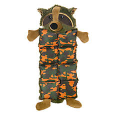Top Paw™ Camo Raccoon Mat Dog Toy - Squeaker