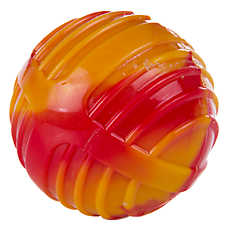 KONG® Swirl Ball Dog Toy - Squeaker (COLOR VARIES)