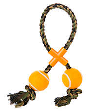 Top Paw™ Rope Tennis Ball Tug Dog Toy