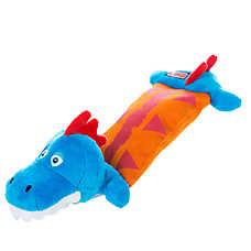 KONG® Critter Pillows Stegosaurus Dog Toy - Squeaker