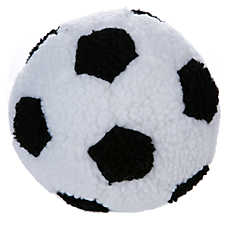 Grreat Choice™ Soccer Ball Dog Toy - Plush, Squeaker