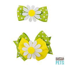 Martha Stewart Pets® Polka Dot Daisy Hair Bows