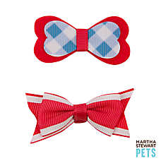 Martha Stewart Pets® Gingham Hair Bows
