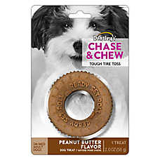 Dentley's® Chase & Chew Tug Tire Toss Dog Treat - Peanut Butter