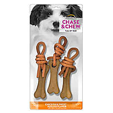 Dentley's® Chase & Chew Tug of War Dog Treat - Chicken & Sweet Potato