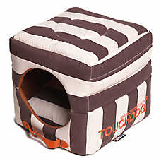 Pet Life Touchdog Polo Stripe Convertible Dog Bed