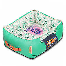 Pet Life Touchdog Floral-Galore Cuddler Dog Bed