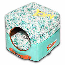 Pet Life Touchdog Floral Convertable Dog Bed