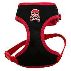 Top Paw® Skull Adjustable Fabric Small Dog Harness