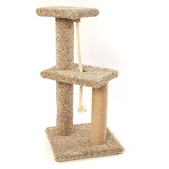 Whisker City 174 Two Story Tower Rope Cat Scratcher Cat