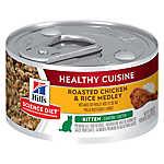 Hill's® Science Diet® Healthy Cuisine Kitten Food - Roasted Chicken & Rice