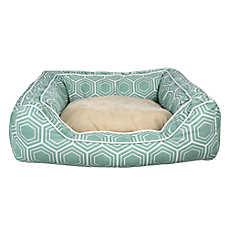 Top Paw® Fashion Print Cuddler Dog Bed