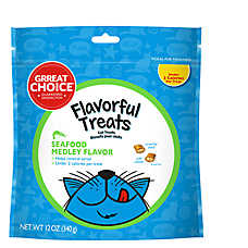 Grreat Choice® Flavorful Treats Cat Treat - Seafood Medley