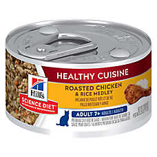 Hill's® Science Diet® Healthy Cuisine Mature Adult Cat Food - Roasted Chicken & Rice