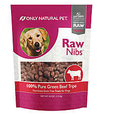 Only Natural Pet Raw Nibs Freeze Dried Green Beef Tripe Dog Treat