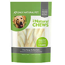 Only Natural Pet Free Range Buffalo Ears Dog Treat