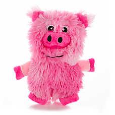 Top Paw™ Flattie Swirl Pig Dog Toy - Stuffing-Free, Crinkle