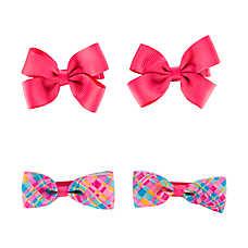 Grreat Choice™ Pink & Plaid Hair Bows