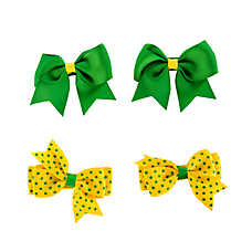 Grreat Choice™ Polka Dot & Solid Hair Bows