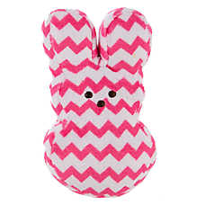 PEEPS® Chevron Bunny Dog Toy - Squeaker